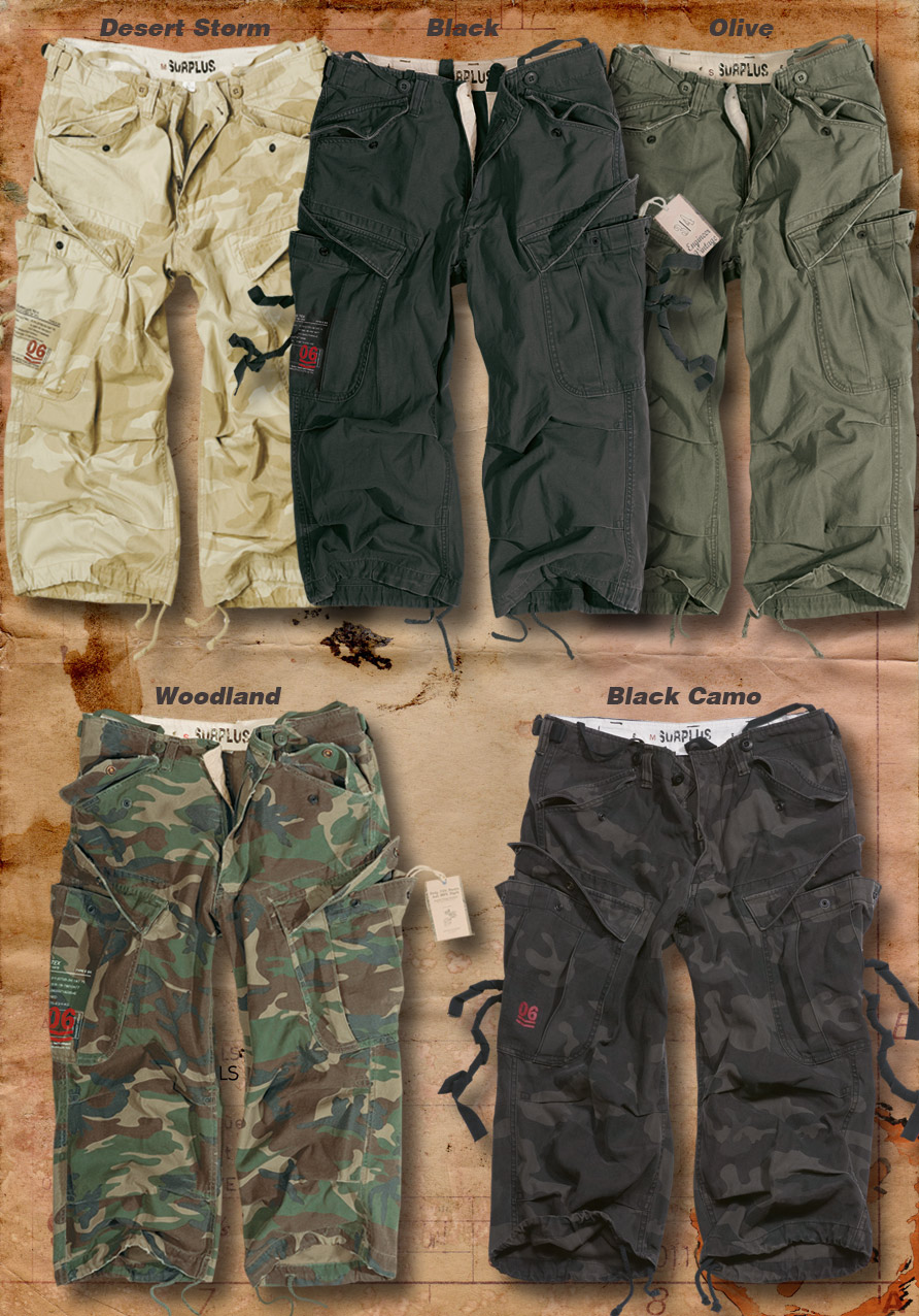 Surplus Raw Vintage Longueur 3//4 nous Homme ingénieur militaire short cargo de combat